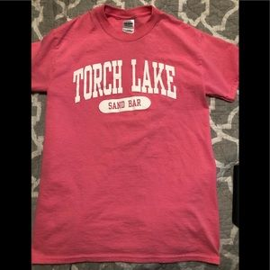 Hot Pink Torch Lake Tee, Small
